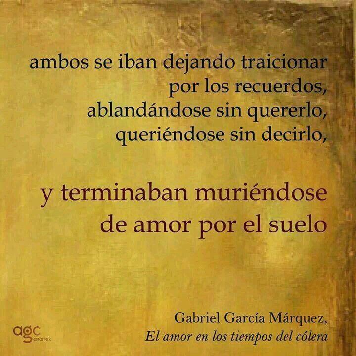 El Amor En Los Tiempos Del Cólera Garcia Marquez Frases