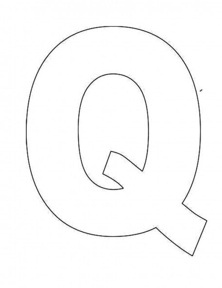 alphabet letter q template for kids joy school pinterest