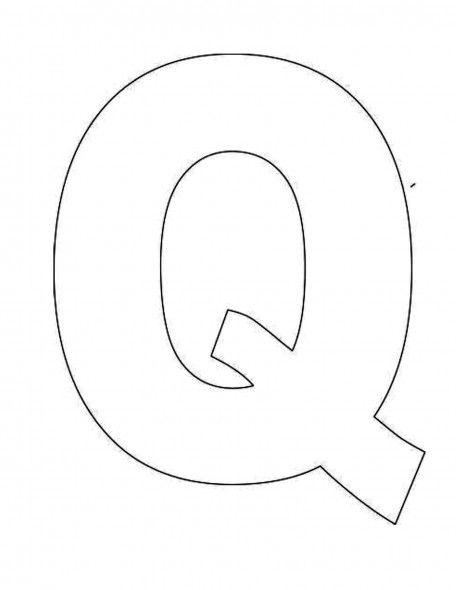alphabet letter q template for kids joy school pinterest