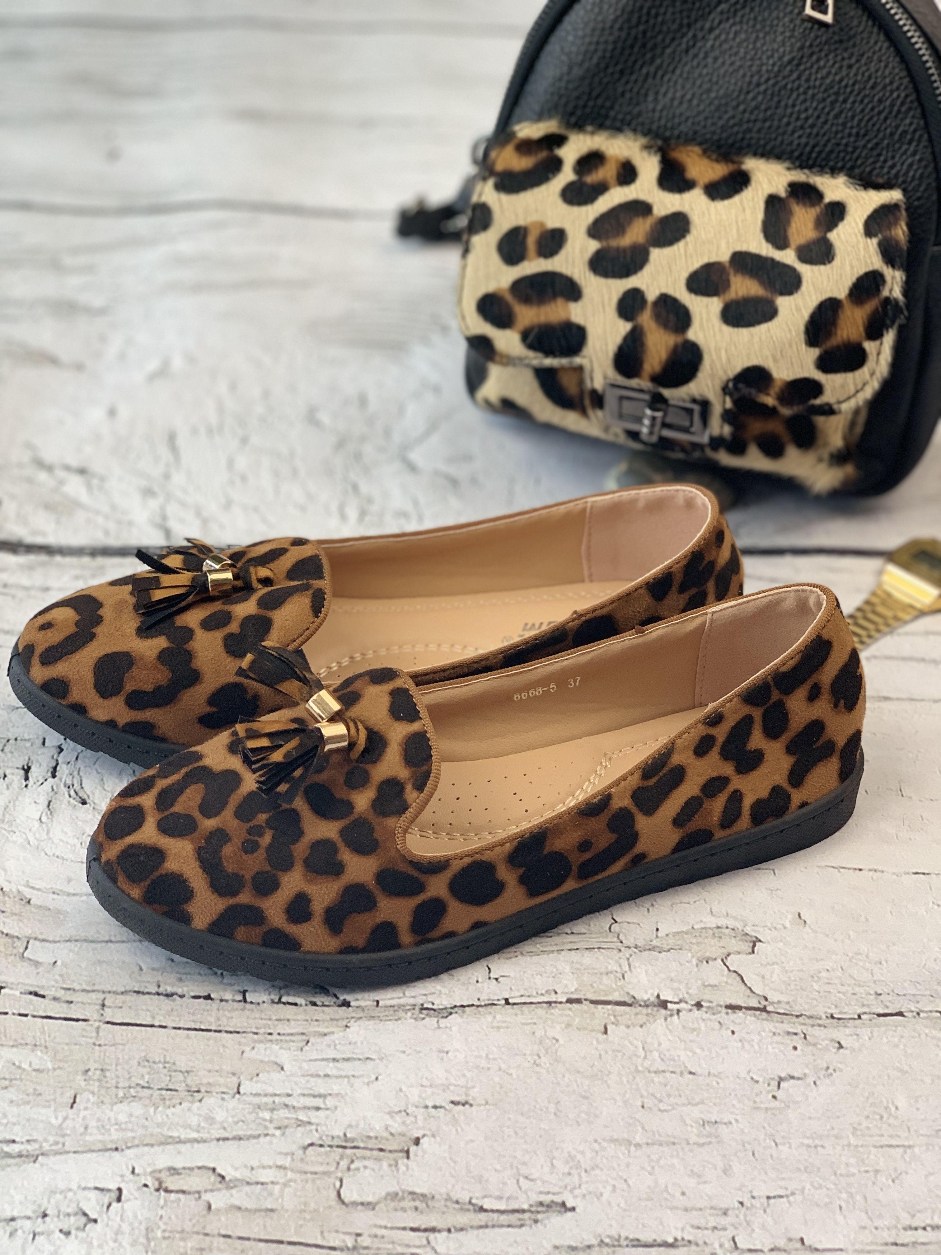 Mokasyny Z Motywem Zwierzecym Shoes Fashion Flats