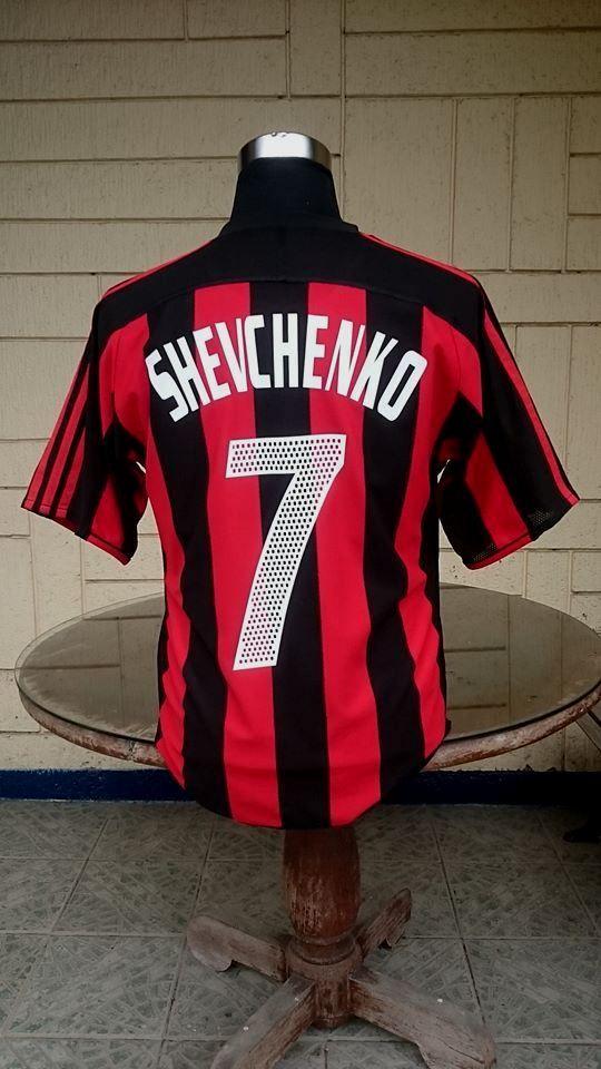 b9890bd8f0 AC MILAN 2003-04 SERIE-A   UEFA SUPER CUP CHAMPION SHEVCHENKO 7 JERSEY