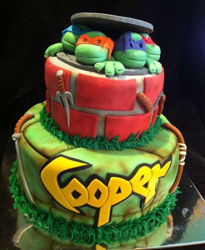 Yummy Teenage Mutant Ninja Turtle Cake Ideas Ninja Turtle Birthday