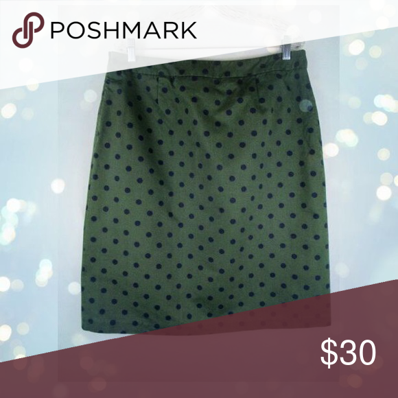 f823d40825 Boden polka dot pencil skirt Boden pencil skirt Hunter Green and navy blue polka  dots Knee length 100% heavy cotton lining: 100% polyester Fully lined, ...