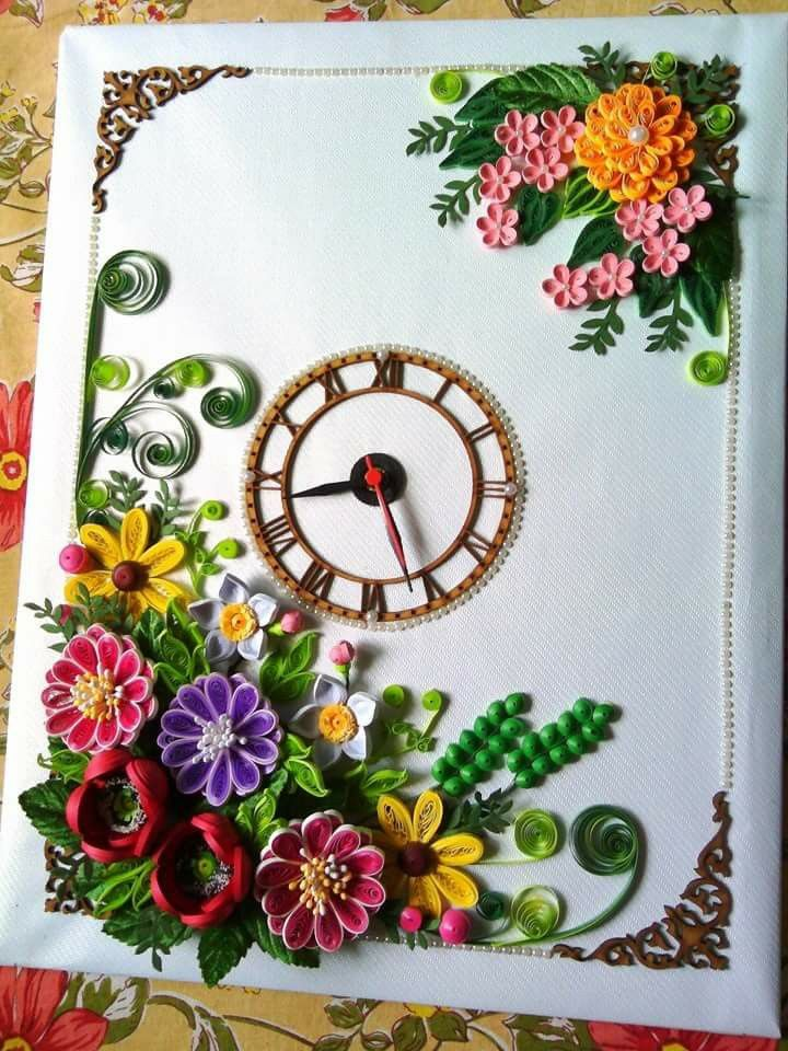 Clock Pin by Dhanashree J on Paper
