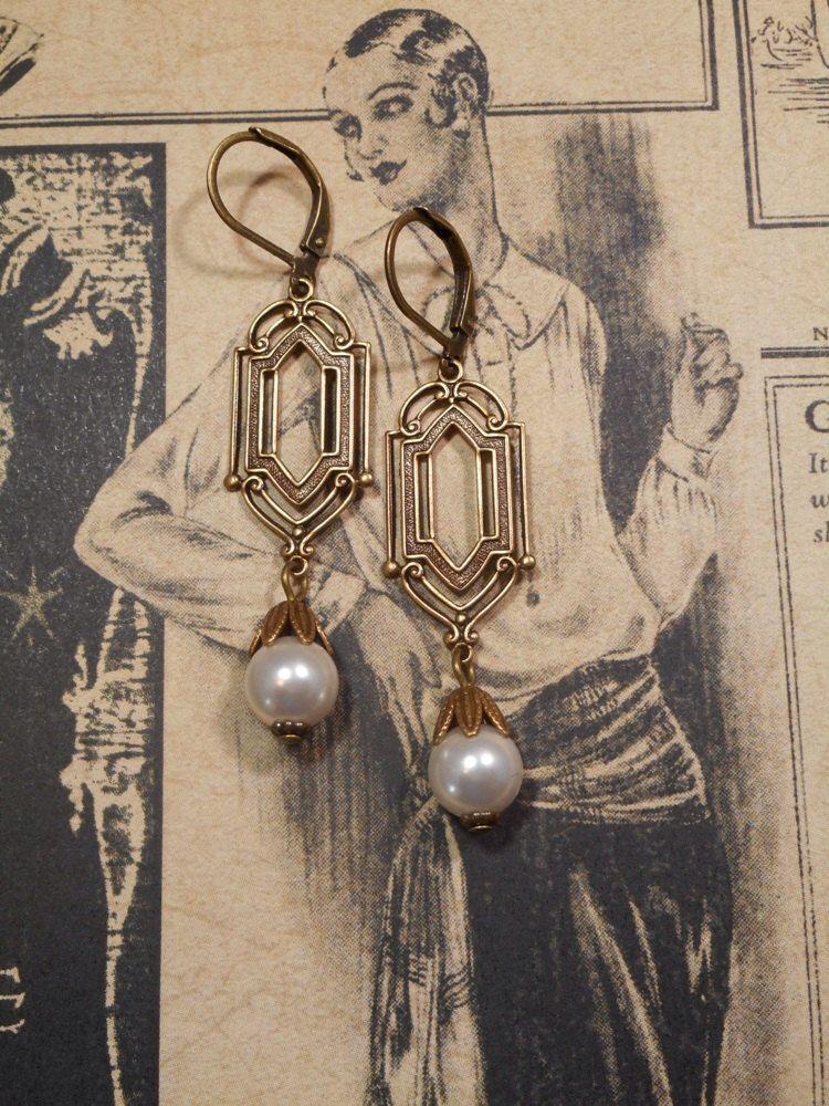 Bridal Art Deco Earrings – Art Deco Jewelry – Bridal Handmade Earrings – 1920s Jewelry – Great Gatsby Wedding – Vintage Style