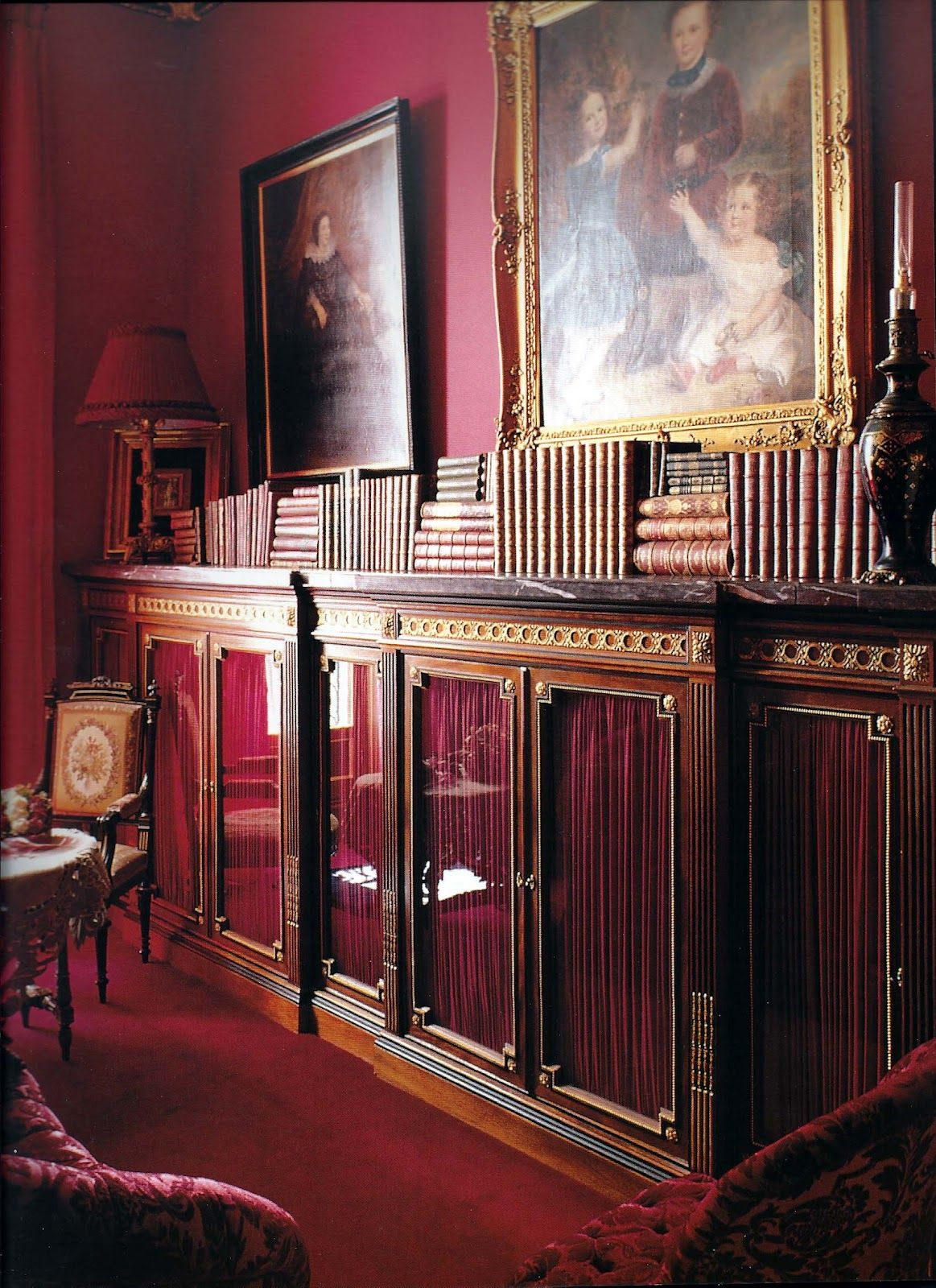 Red Does It All Red Rooms Burgundy Living Room Red Walls
