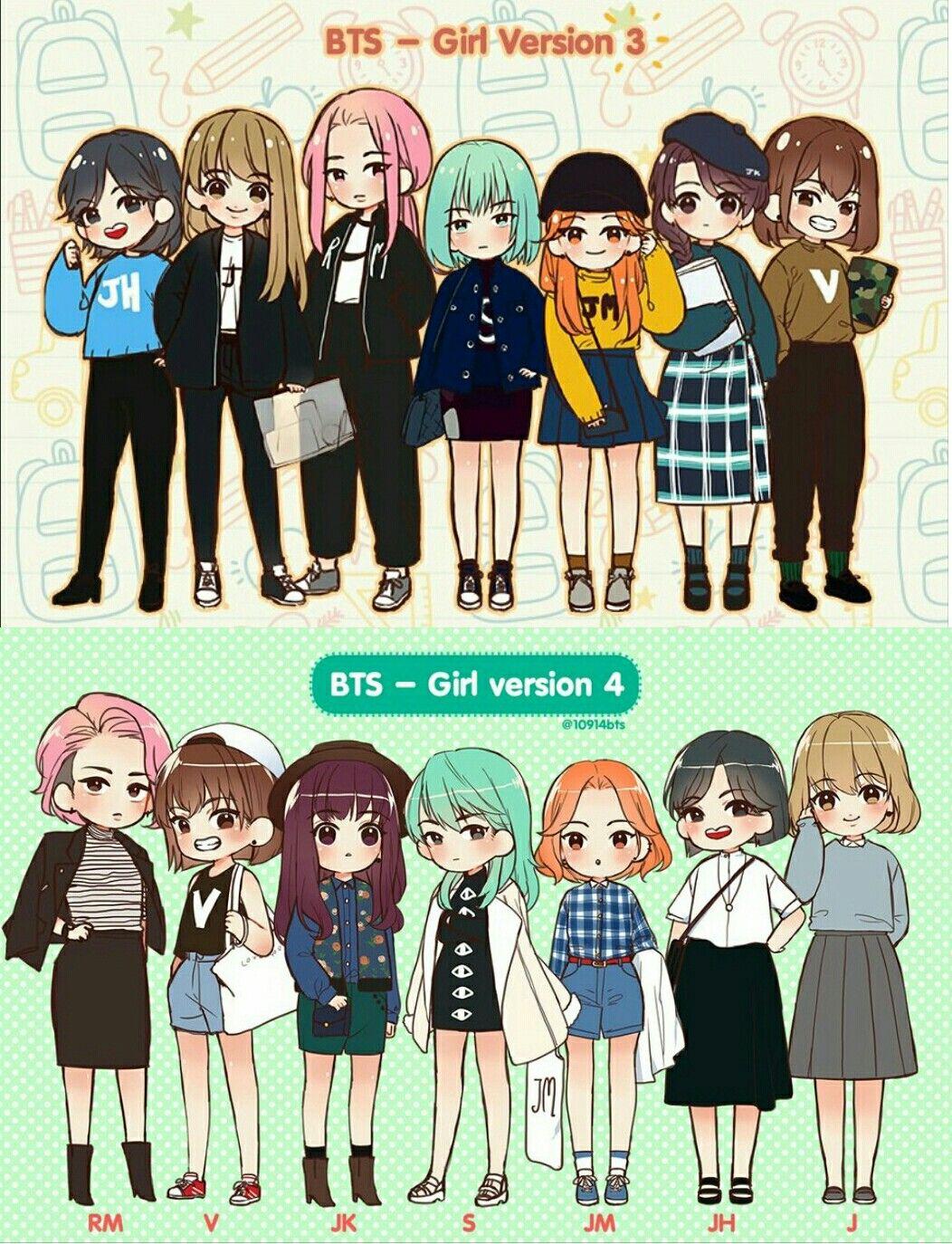 Bts Girl Version 3 & 4 Bts GirlVersion ♡BTS