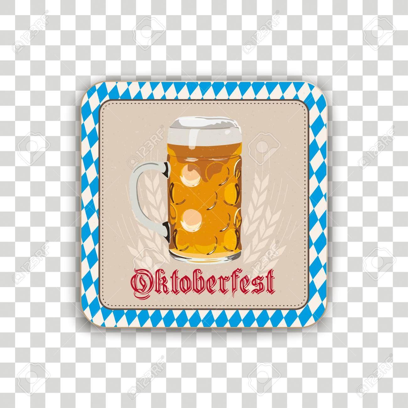 Set of 10 Oktober Fest Bier Coasters