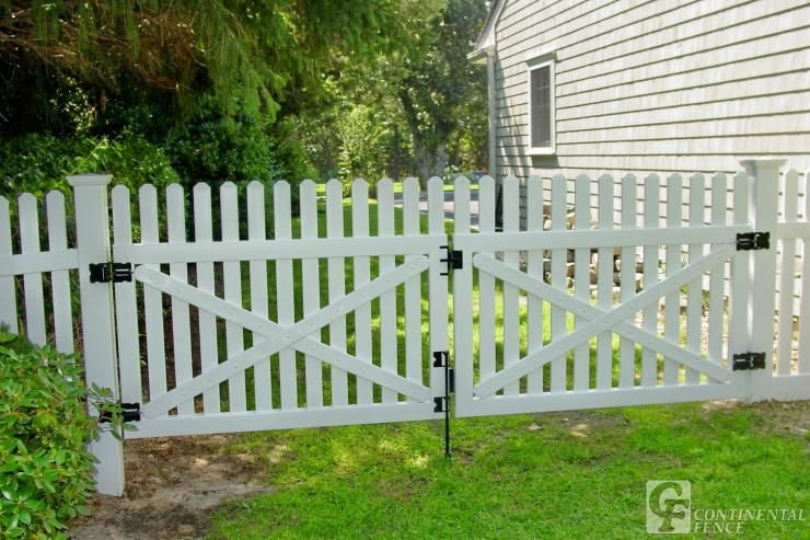 double picket gate Google Search Pool ideas Pinterest Fences