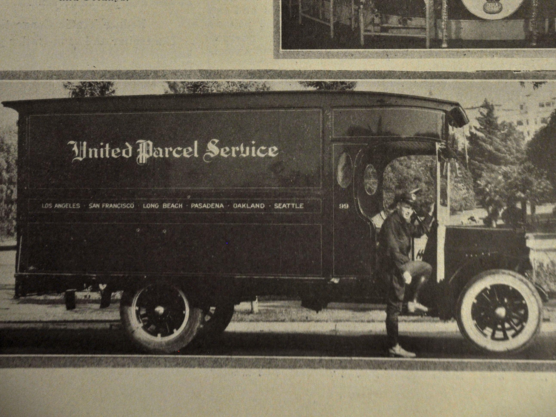 Ups Truck With Images Vintage Trucks Big Trucks Truck Transport