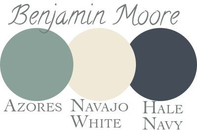 Our Exterior Paint Palette Benjamin Moore Azores Navajo White Hale Navy Curb Appeal
