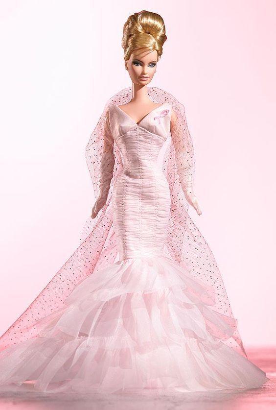 Pink Ribbon™ Barbie | Barbie : Vestidos Arcoiris de Color | Pinterest