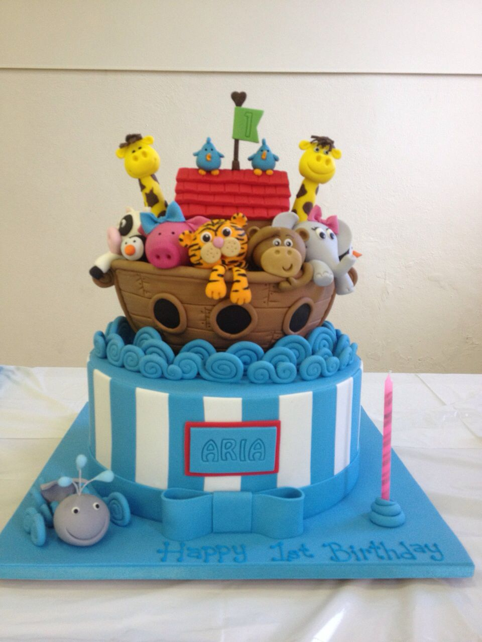 Sweet Cakes Ark : sweet, cakes, Aria's, First, Birthday, Noah's, Noahs, Cake,, Cakes,, Party
