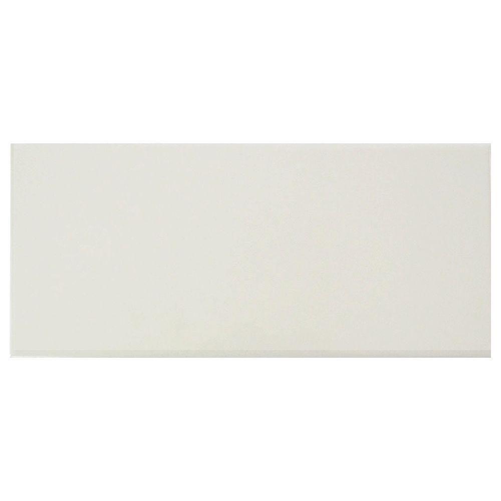 Us ceramic tile bright glazed snow white 4 14 in x 10 in us ceramic tile bright glazed snow white 4 14 in x 10 dailygadgetfo Images