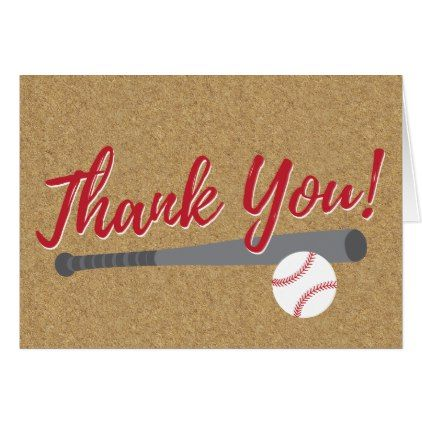 Baseball Thank You Card Zazzle in 2019 thank you gifts