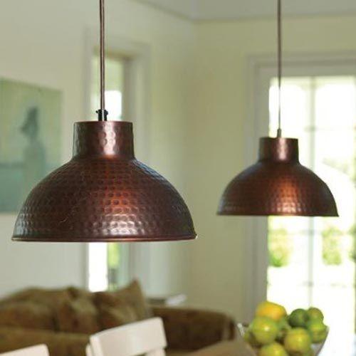 Vintage Copper Pendant Light Fixture 05