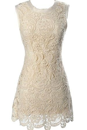 Victorian lace dress $48...this would be perfect for the rehearsal...especially with bold, colorful heels to go with it!
