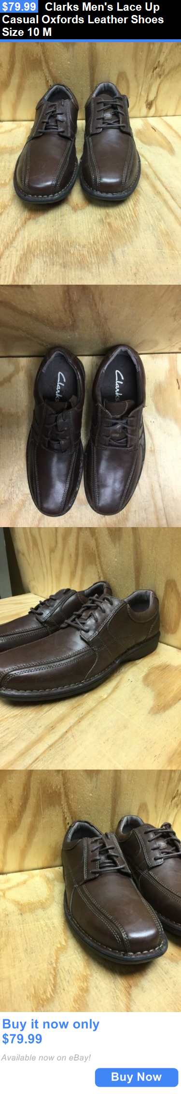 clothing and accessories: Clarks Mens Lace Up Casual Oxfords Leather Shoes Size 10 M BUY IT NOW ONLY: $79.99