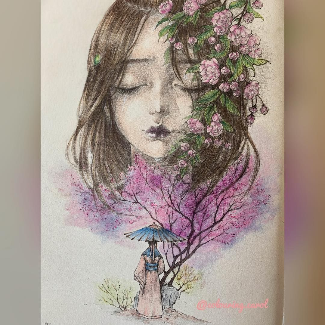 Carol On Instagram First Page In Findcolorcoloringbook By Gugeli I Used Oil Pastels Pencils And White Gel Pen Car Gel Pens Oil Pastel White Gel Pen