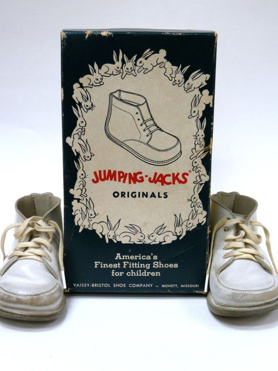 Vintage Jumping Jack Baby Shoes