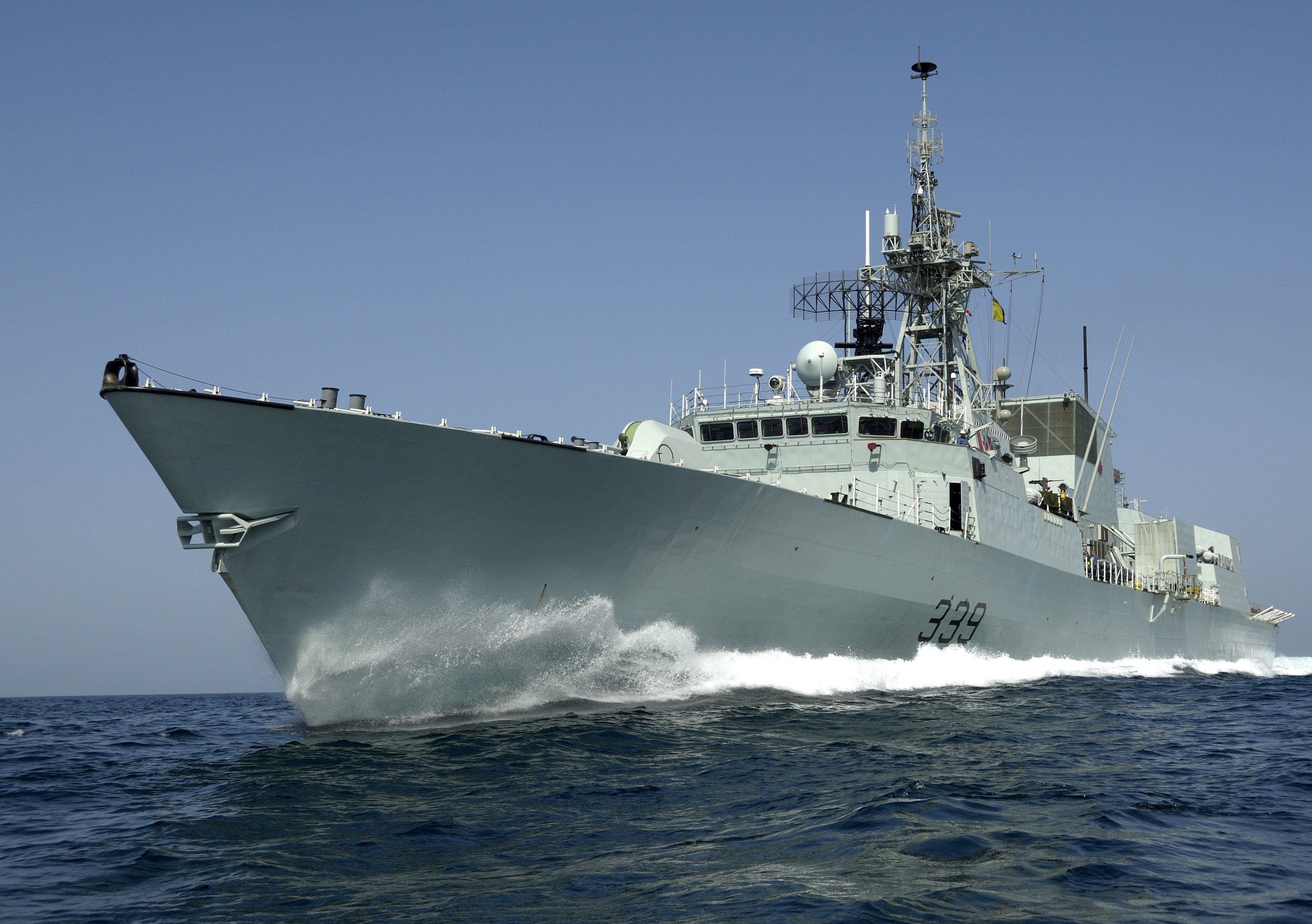 Military Canadian Navy Frigate HMCS Charlottetown (FFH