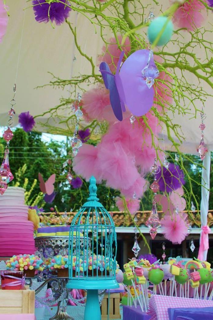 Secret Garden: Pastel Butterfly Garden Party With Such