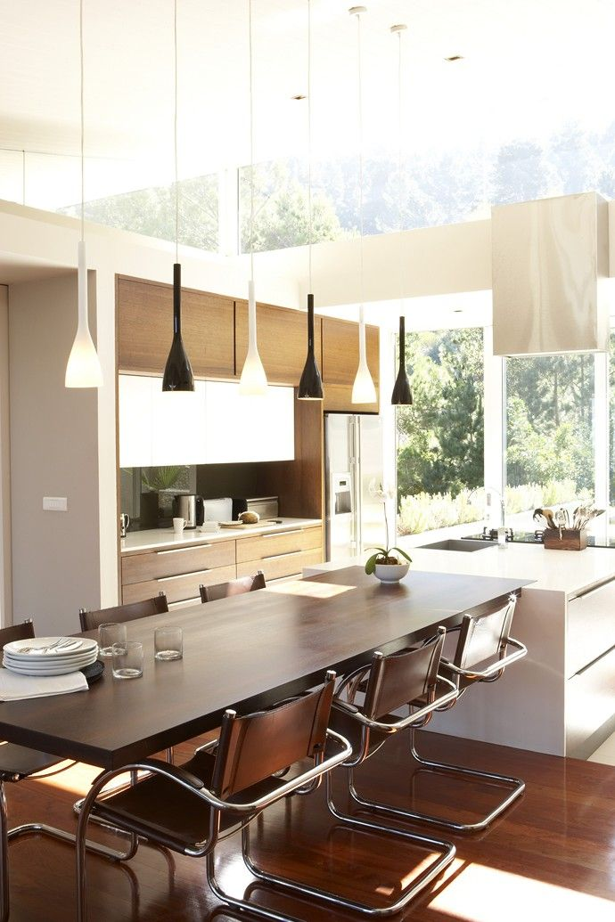 Room Kitchen Island With Adjoining Dining Table