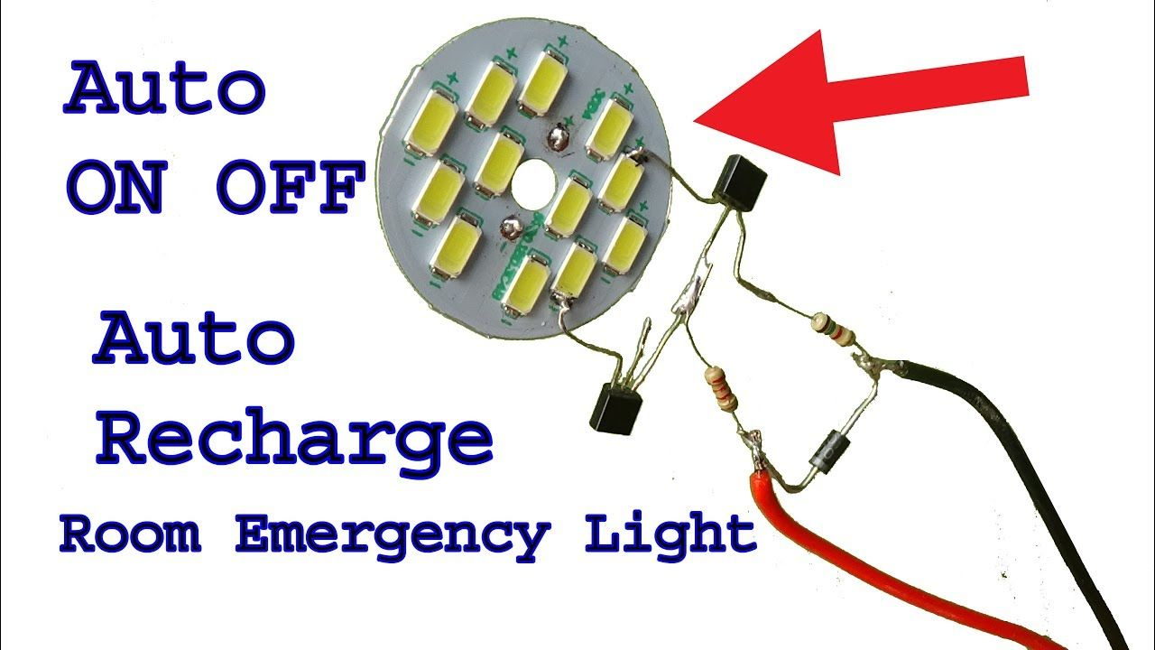 Make 12 Volt Auto On Off Rechargeable Room Emergency Led Light Diy Light Led Emergency Lights Led Lighting Diy Led Lamp Diy