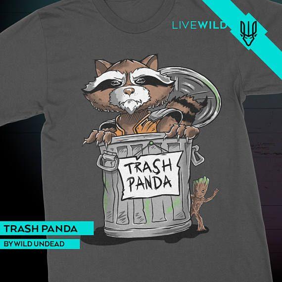 d4a34487a Rocket Raccoon Guardians of the Galaxy T-Shirt - Trash Panda ...