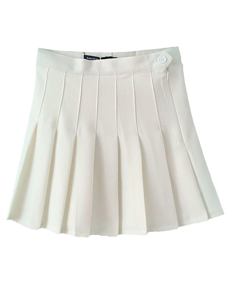 Pleated High Rise Tennis Skirt White Pleated Skirt High Waisted Pleated Skirt Pleated Tennis Skirt