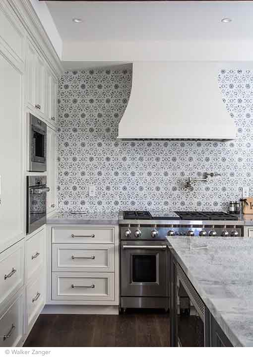 Decorative Tile Backsplash Kitchen Walker Zanger Villa D'oro Collection Granada Decorative Field In