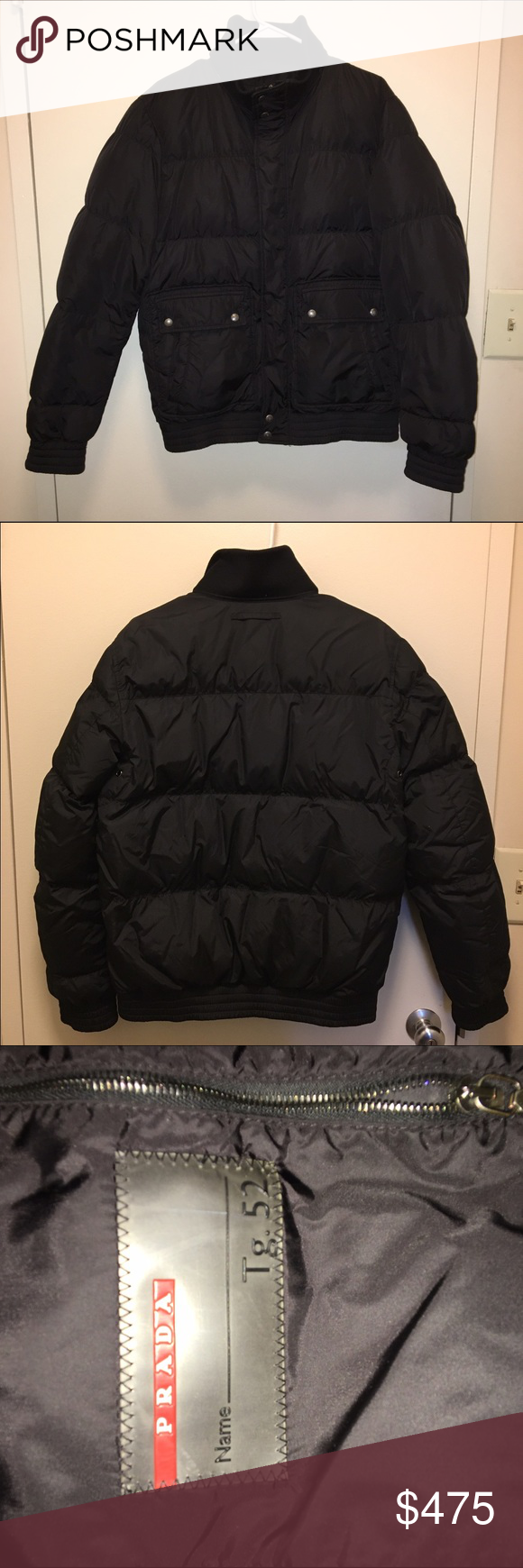 Prada Men S Down Coat Tg 52 Medium Prada Men Clothes Design Coat [ 1740 x 580 Pixel ]