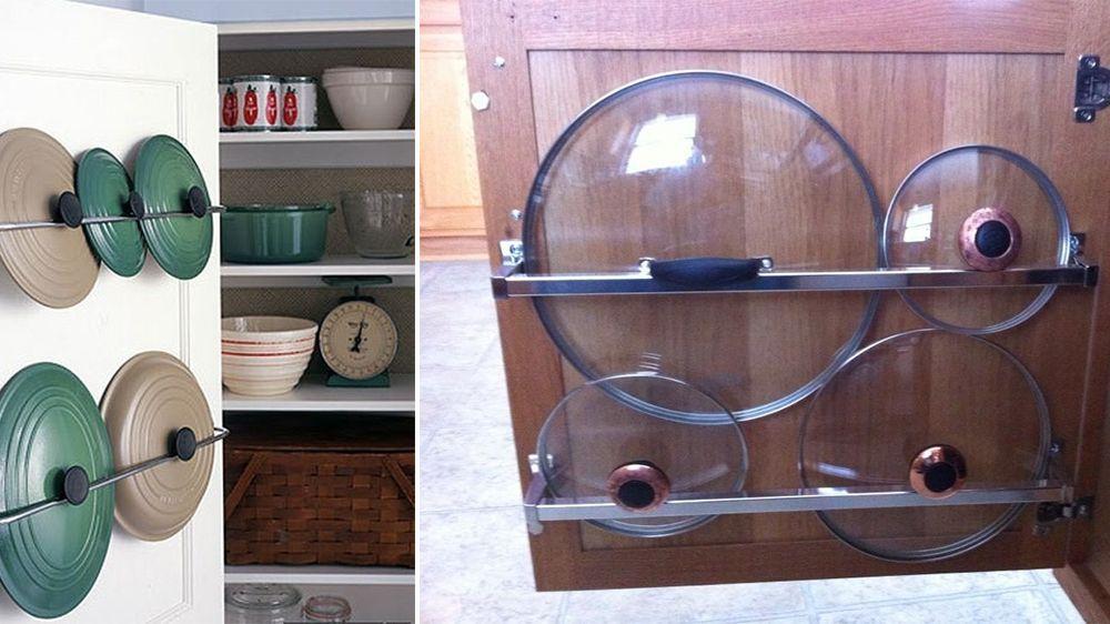 5 fa ons de ranger ses couvercles de casserole m6 rangement kitchen storage kitchen. Black Bedroom Furniture Sets. Home Design Ideas