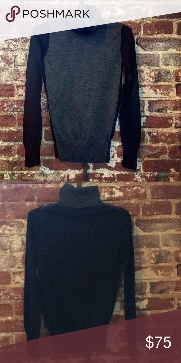jcrew colorblock sweater 100  merino wool turtleneck sweater  fantastic preloved condition  j
