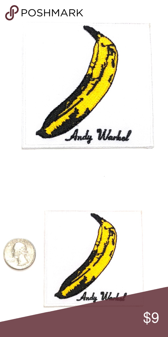 Andy Warhol Patch Iron Banana Velvet Underground Velvet Underground Velvet Underground Albums Vintage Patches