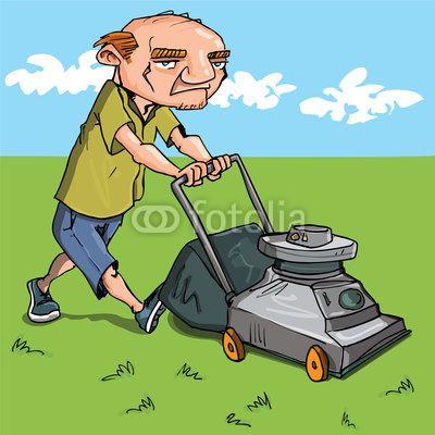 free clip art downloads lawn man vector cartoon man mowing his lawn lawnman pinterest lawn. Black Bedroom Furniture Sets. Home Design Ideas