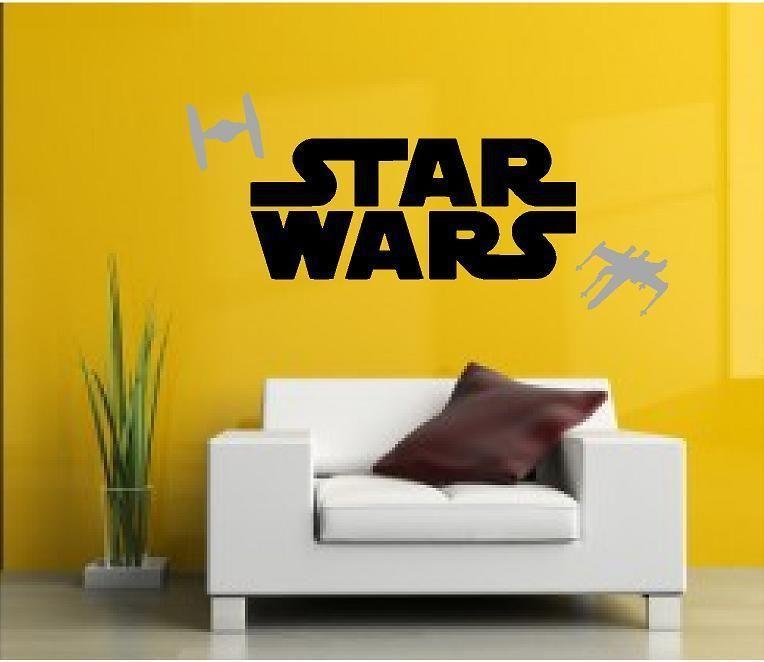 STAR WARS Logo Kids Bedroom Wall Art Decal - FREE P&P & FREE SHIP ...