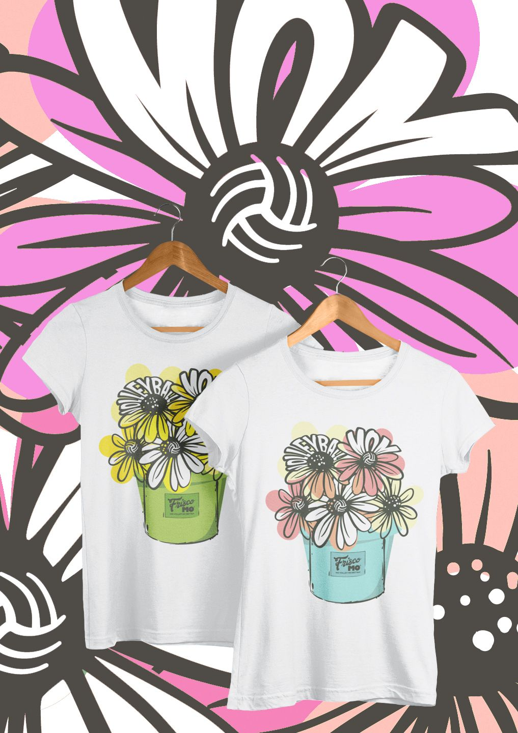 Everyone loves flowers volleyball mom tanks tees long