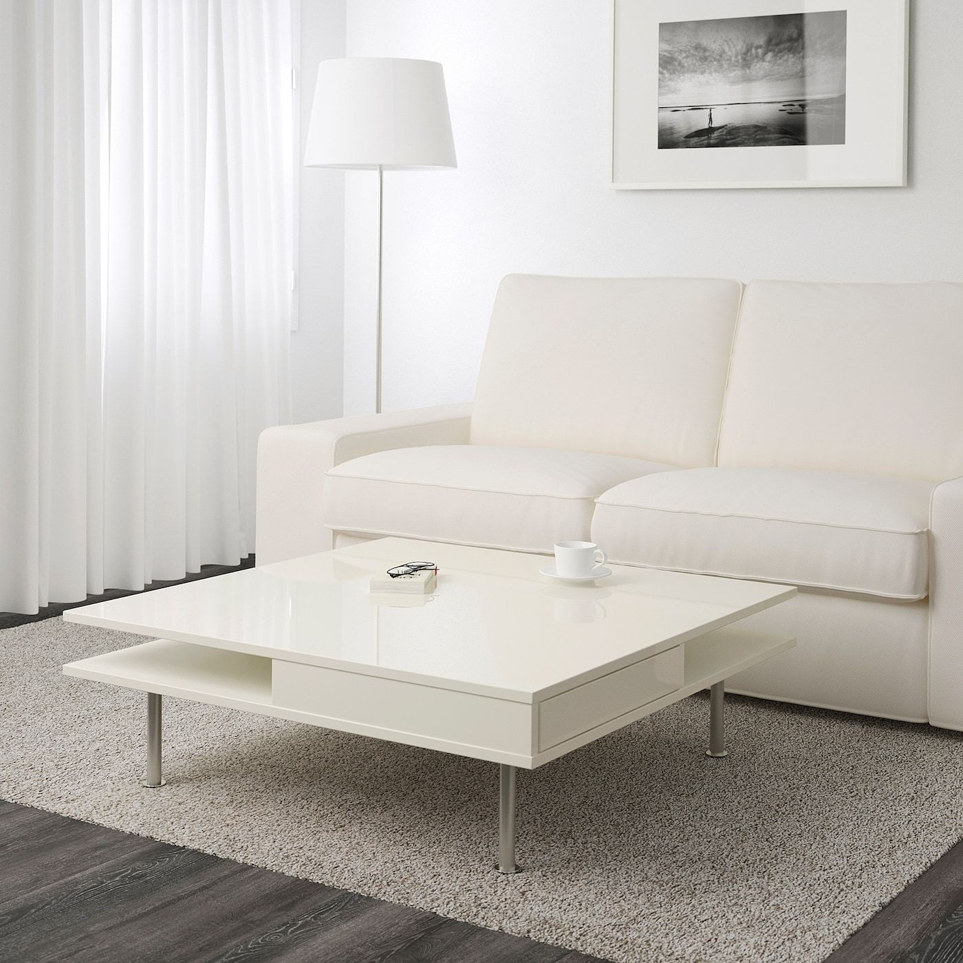 Ikea Couchtisch Weiß Hochglanz Tofteryd Couchtisch, Hochglanz Weiß, 95x95 Cm - Ikea Deutschland | White Living Room Tables, White Coffee Table Living Room, Coffee Table