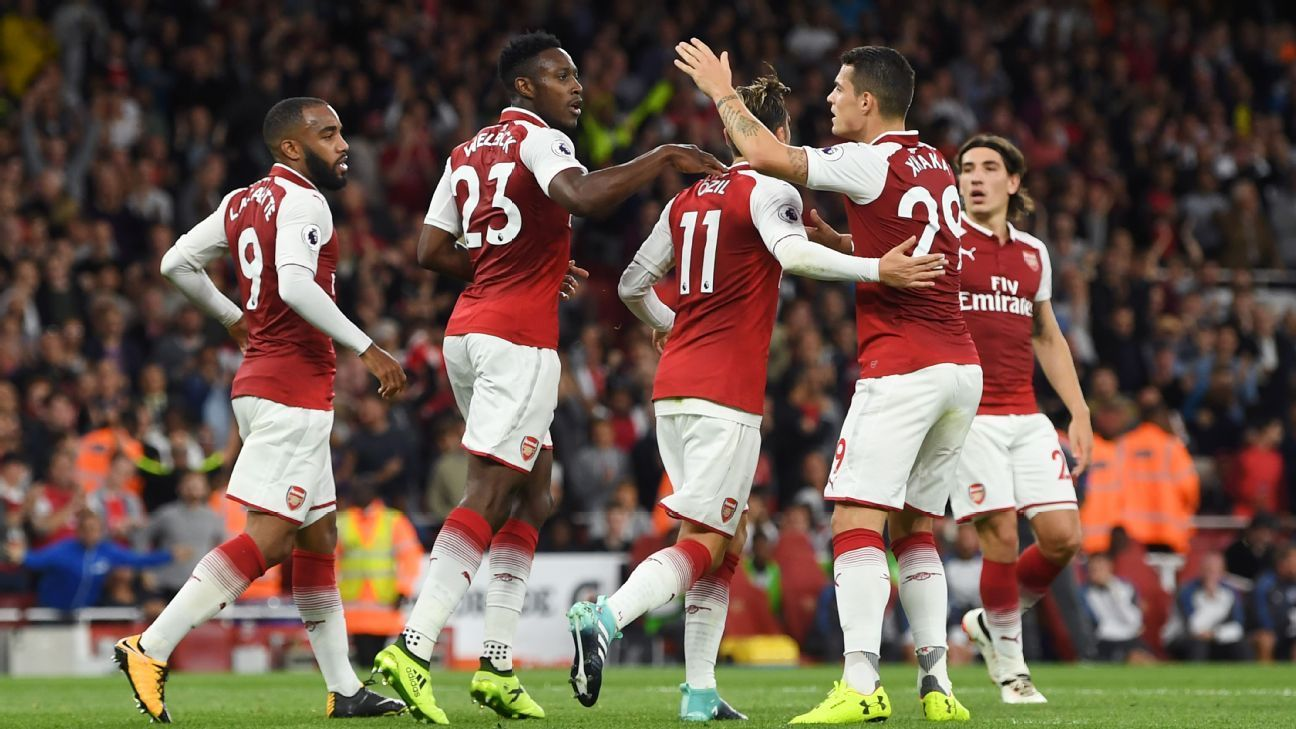 Arsenal Rally Late To Defeat Leicester On Opening Night Espn Europa League Soccer Scores Leicester City Premier League