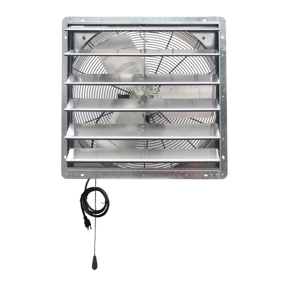 Iliving 4200 Cfm 24 In Power Exhaust Shutter Attic Garage Grow Fan With 2 Speed Thermostat 6 Ft L 3 Plugs Cord Ilg8sf24v T In 2020 Ventilation Fan Thermostat Exhaust Fan