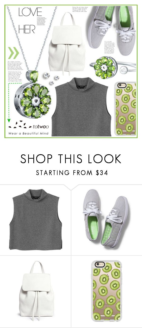 """""""Totwoo contest"""" by becky12 ❤ liked on Polyvore featuring Monki, Keds, Mansur Gavriel, Casetify, totwoo and smartjewelry"""