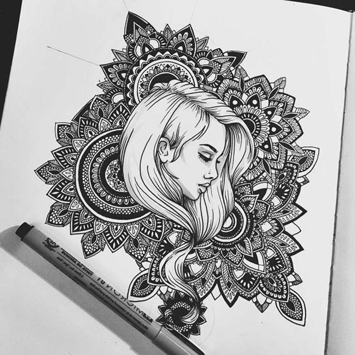 1001 id es et techniques pour faire un mandala art dessin graphique dessin cheval et mandala - Jolie dessin a faire ...