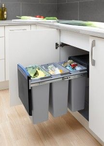 Built In Waste And Recycling Bin From Brabantia #trash #recycle Stunning Kitchen Waste Bins Decorating Inspiration