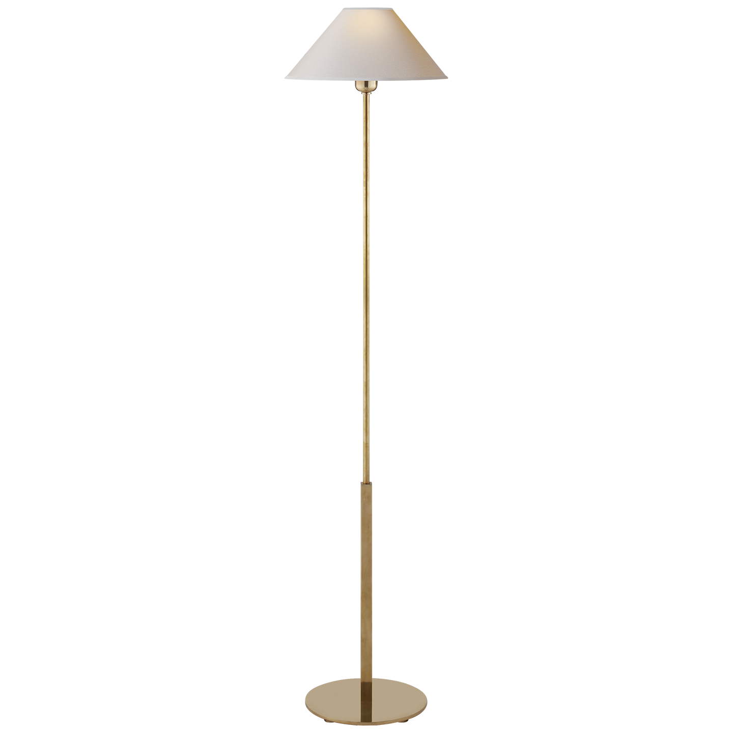 Paper Shade Floor Lamp Endearing Hackney Floor Lamp In Handrubbed Antique Brass With Natural Paper Design Ideas