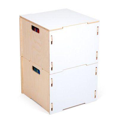 Sprout 2 Modern Wood Hanging File Box Finish: White