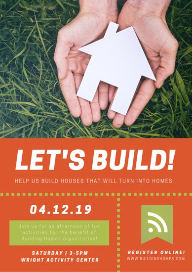 LetS Build Housing Campaign Poster  Indy