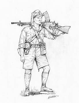 Image result for Drawings of Military Soldiers in WW1