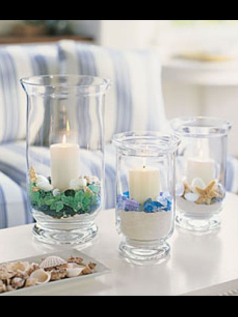 home decor ideas use tropical leaves.htm seaglass  pascale lemay lemay de groof beach glass candle  beach glass candle