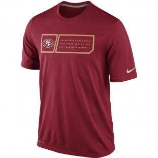 San Francisco 49ers Nike NFL Legend Jocktag T-Shirt (Red)  1a82f75ae